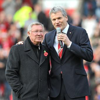 David Gill, right, said working alongside Sir Alex Ferguson has been a 'tremendous pleasure'
