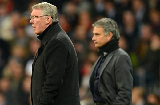 Sir Alex Ferguson (left) has retired from his position as manager of Manchester United leading to speculation that Jose Mourinho is being lined up to take over