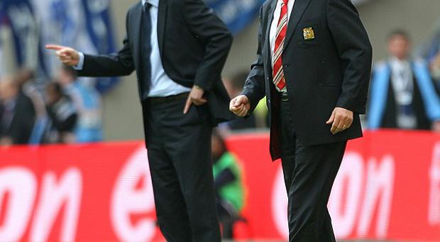 David Moyes, left, will replace Sir Alex Ferguson, right, as Manchester United manager