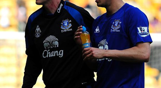 Phil Jagielka, right, has thanked David Moyes, left, for his work at Everton