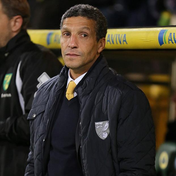 Chris Hughton wants Norwich to seal their survival this weekend