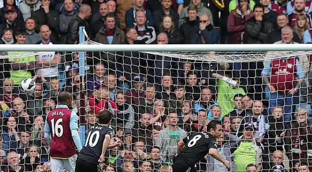 Frank Lampard scores the record-breaking goal