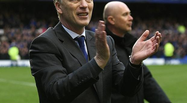 David Moyes took charge of Everton for the final time at Goodison Park on Sunday