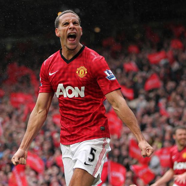 Rio Ferdinand scored his first goal for Manchester United since 2008 in Sunday's win against Swansea