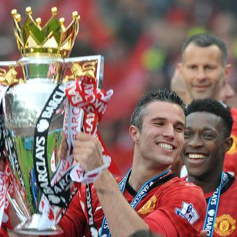 Robin van Persie, centre, won both the Premier League and the Golden Boot at Manchester United this season
