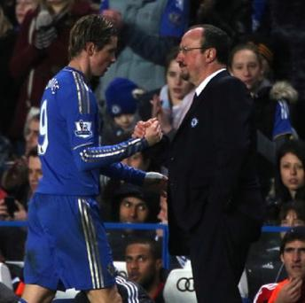 Fernando Torres, left, enjoyed playing for Rafael Benitez, right, for a second time