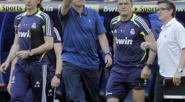 Jose Mourinho took charge of his final Real Madrid match on Saturday (AP)