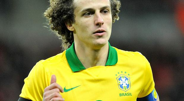 David Luiz suffered a nose injury playing for Brazil