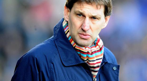 Tony Adams is unhappy with the state of affairs at Arsenal