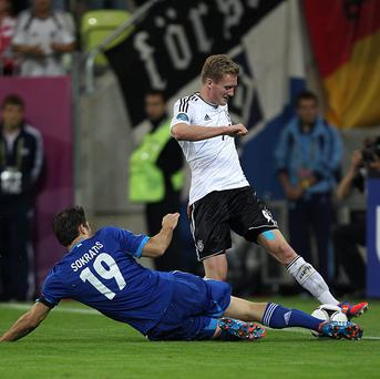 Andre Schurrle, right, has played 24 times for Germany
