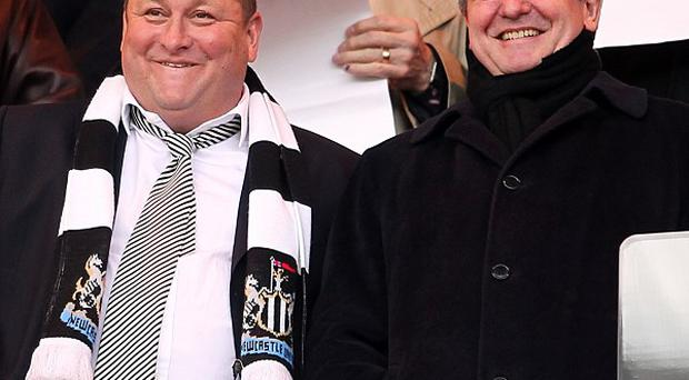 Owner Mike Ashley, left, continues to irk Newcastle fans