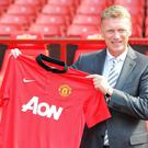 David Moyes began work at Manchester United on Monday