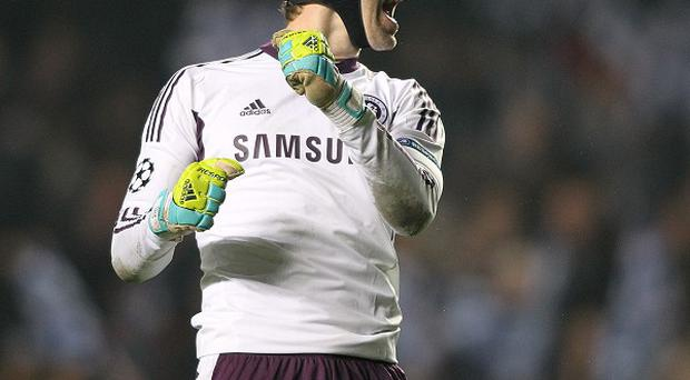 Petr Cech, pictured, has hailed Wayne Rooney as a 'great player'