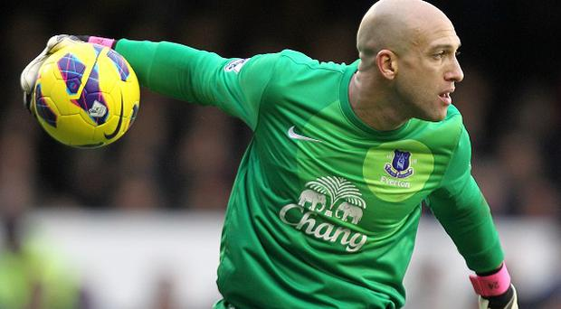 Tim Howard is relishing a battle for the number one jersey at Everton
