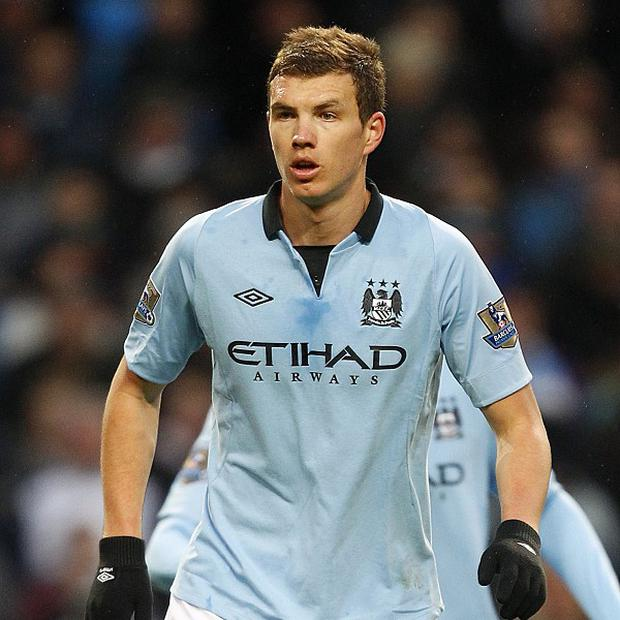 Edin Dzeko scored the only goal of the game