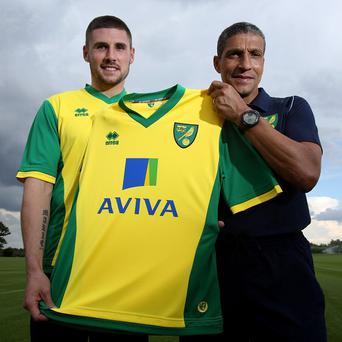 Gary Hooper, left, hopes to continue his goalscoring form after joining Norwich