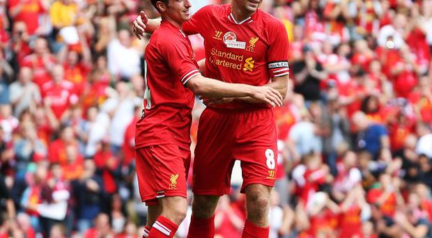 Joe Allen, left, excelled on Saturday