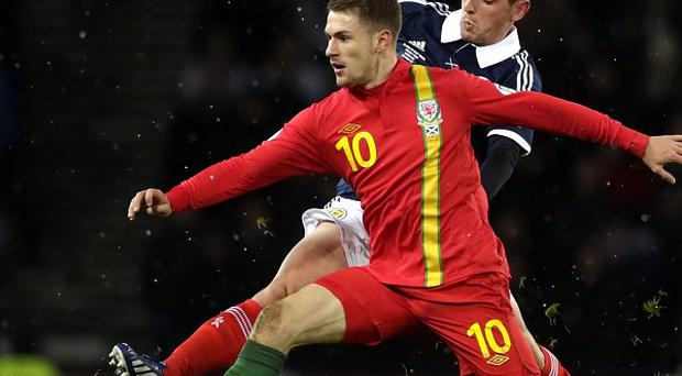 Aaron Ramsey has an ankle injury