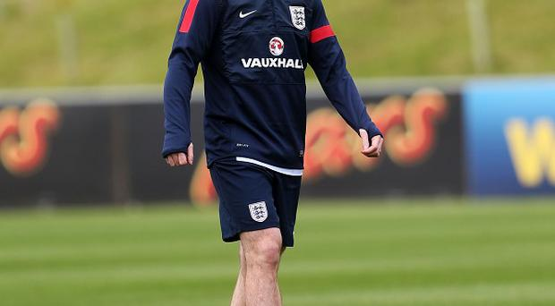 Wayne Rooney trained with England on Monday