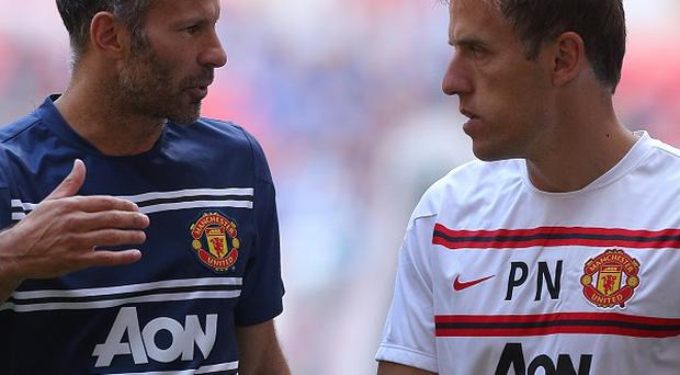 Ryan Giggs, left, has been backed to succeed at Manchester United