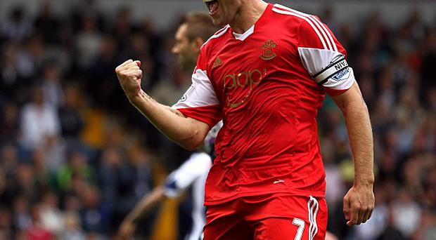 Rickie Lambert converted from the spot in the 90th minute against West Brom