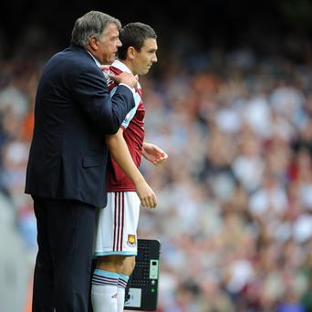 Stewart Downing, right, celebrated his move from Liverpool with a lively 20-minute cameo for West Ham