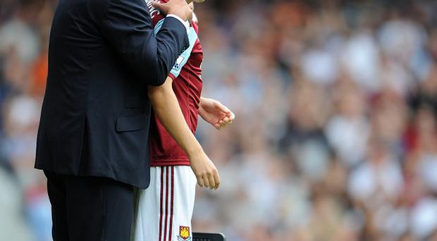 Stewart Downing, right, joined Sam Allardyce's West Ham during the summer