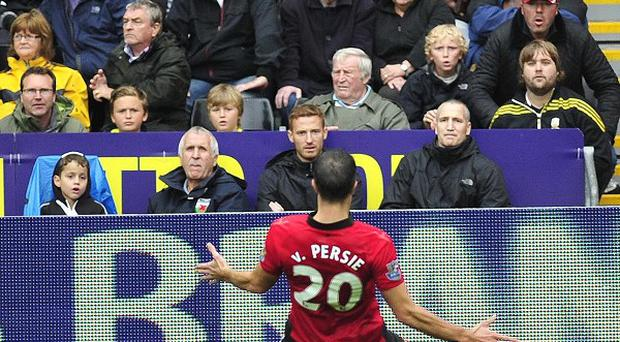Robin Van Persie bagged a brace against Swansea