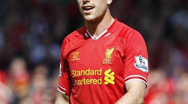 Jordan Henderson had a couple of chances to score during Liverpool's win over Stoke