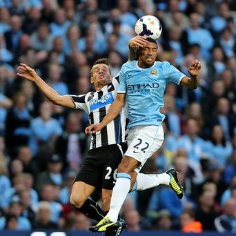 Gael Clichy, right, feels Manchester City impressed on both required fronts as they overran Newcastle from the outset to win with slick attacking football