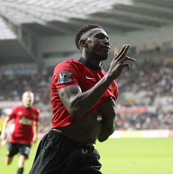Danny Welbeck scored twice in Manchester United's Premier League opener against Swansea