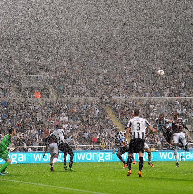 Newcastle and West Ham played out a stalemate at a rain-drenched St James' Park