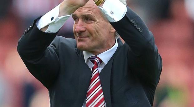 Mark Hughes picked up his first points as Stoke boss against Crystal Palace