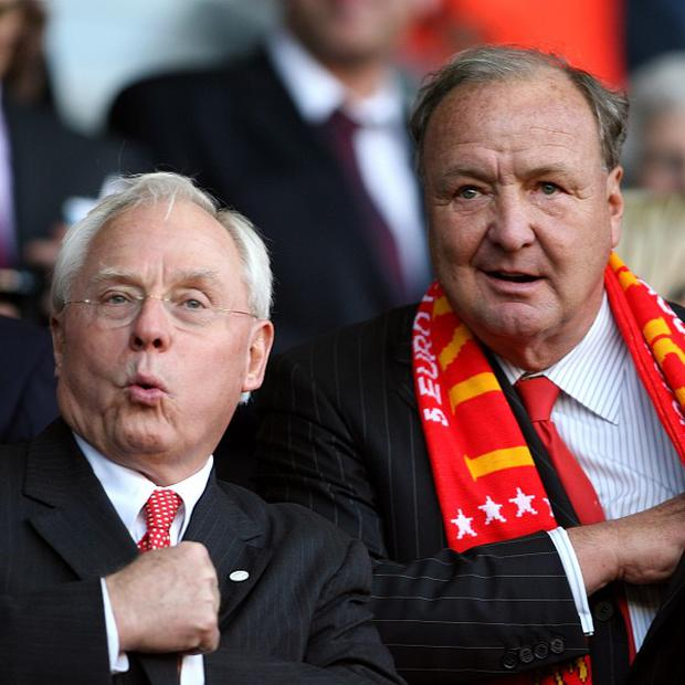 George Gillett, left, and Tom Hicks, right, were hugely unpopular with Liverpool fans