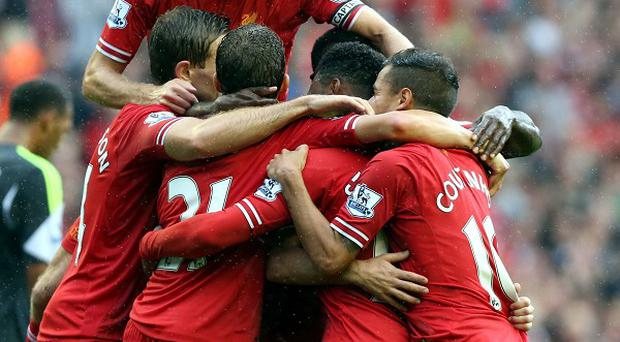 Steven Gerrard, top, is relishing the clash with Manchester United