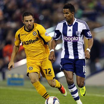 Scott Sinclair, right, is looking forward to a long spell in the West Brom team