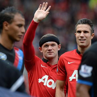 Wayne Rooney returned to action after suffering a head injury and scored United's second goal