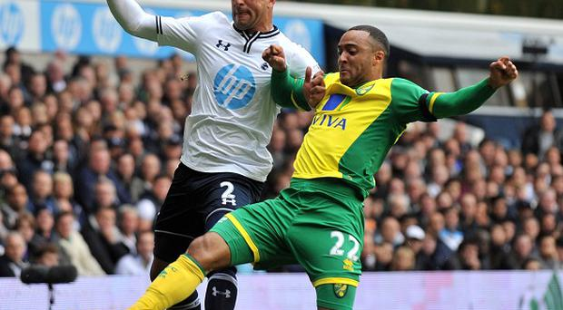Kyle Walker, left, played his part in Tottenham's win against Norwich