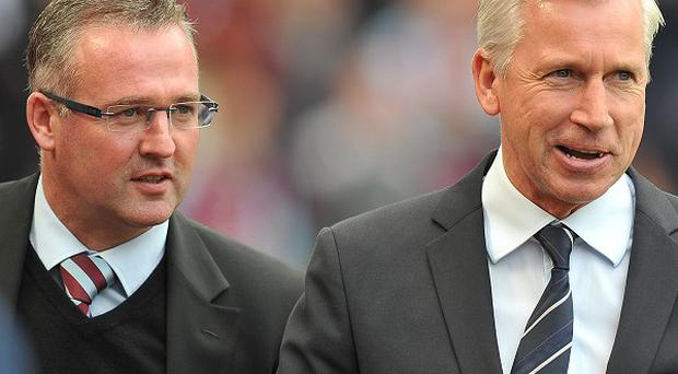 Paul Lambert, left, believes his side should thrive on playing at Villa Park