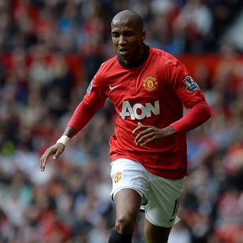 Ashley Young was booked for diving against Crystal Palace