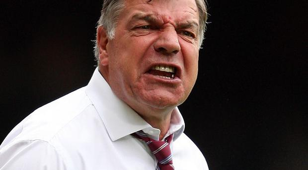 Sam Allardyce, pictured, missed out on the loan signing of Romelu Lukaku