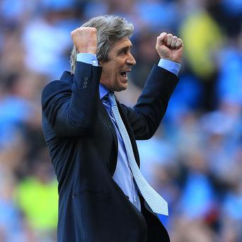 Manuel Pellegrini was happy with how his side defended against Manchester United