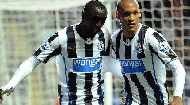Yoan Gouffran, right, scored in Newcastle's victory over Leeds