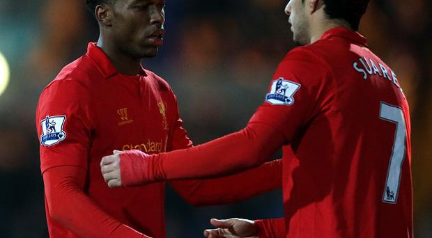 Brendan Rodgers believes Daniel Sturridge, left, can play alongside Luis Suarez, right