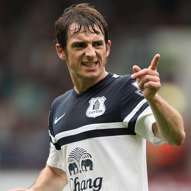 Alan Pardew is aware of the threat posed by Leighton Baines, pictured