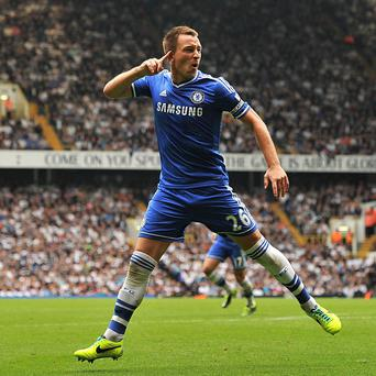 John Terry celebrates netting Chelsea's equaliser