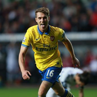 Aaron Ramsey was instrumental in Arsenal's win against Swansea at the Liberty Stadium