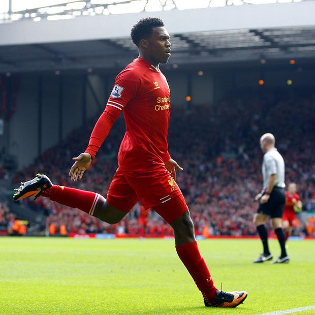 Daniel Sturridge celebrates netting Liverpool's second goal