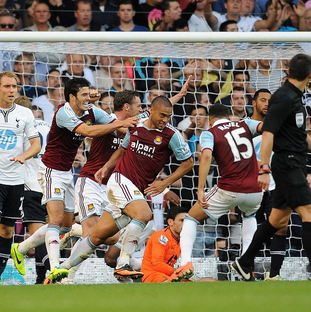 West Ham beat Tottenham 3-0 at White Hart Lane on Sunday