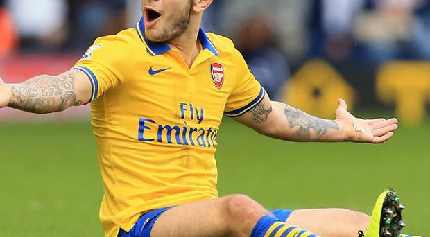 Jack Wilshere scored the equaliser for Arsenal against West Brom on Sunday